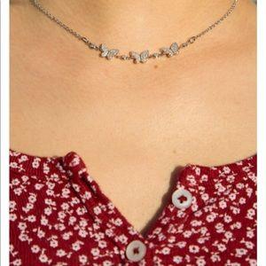 Brandy Melville butterfly necklace &heart bracelet
